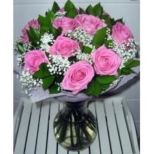 Букет из розовых роз - Аква