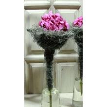 Цветок гортензии на каркасе из тилантсии