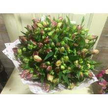 летний букет цветов 21 альстромерия с доставкой в екатеринбурге