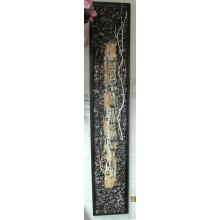 Коллаж из сухоцветов, веток, шишек. Авторская работа Татьяны Куркиной. Размер 32X150 см