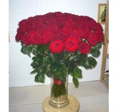 101 Красная роза в букете