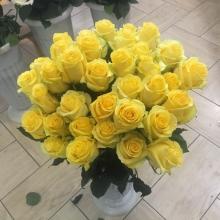 прикольная и яркая желтая роза