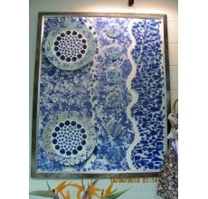 Коллаж из стекла, керамики. Авторская работа Татьяны Куркиной. Размер 50X70 см